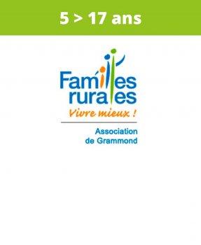 Association<br>Familles Rurales<br>Grammond<br>(5 > 17 ans)
