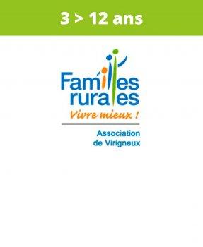 Association<br>Familles Rurales<br>Virigneux<br>(3 > 12 ans)